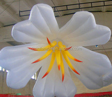 Newest wedding stage giant inflatable flowers decoration with led lighting