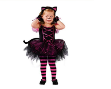 Halloween costumes for kids Performing girls' cat suit Cosplay children's clothes