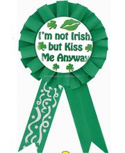 St.Patrick's Day Green Rosette Badge