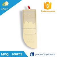 Cheap custom bookmark metal bookmark clip promotional bookmark