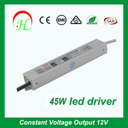 High stability constant voltage waterproof ip67 45w 12v led driver