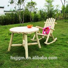 de madera al aire libre jardín mesa y una silla