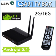 RK3368 Octa Core Smart TV Box CSA91 Android 5.1 LOLLIPOP TV Box 2G+16GB 4K Smart Media Player 3 USB Port WiFi 2 antenna CSA91