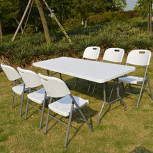 wholesale 6ft rectangle banquet outdoor plastic folding table, picnic camping table