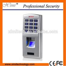 Caja de Metal IP65 control de acceso huella digital lector de huellas dactilares lector wiegand con teclado