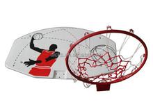 Height Basketball Backboard For Kids With Metal Hoop
