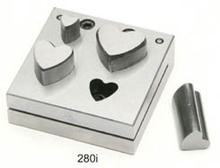 Heart Shape Disc Cutter Punch, Jewelry Tools