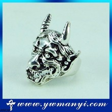 New Design animals in silver 925 fashion jewelry Ring with Skull Jewelry