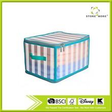 Plegable plástico gaveta de almacenamiento joyero con cierre de cremallera