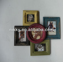 Shabby chic small photo frames composition wooden frames for babies and kids