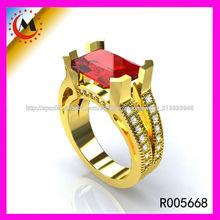 China, joyería del anillo de la piedra preciosa de color al por mayor de