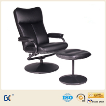 Leather recliner armchair with footrest