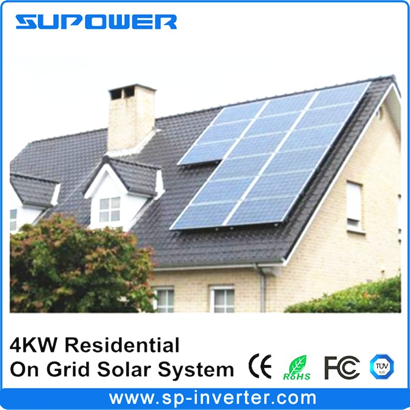 4kw Residential On Grid Solar Power System With Ip67 Micro