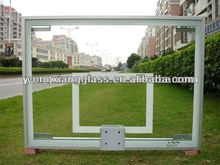 Basketball glass backboard