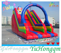 Outdoor Lawn Customize Happy Clown Fun Inflatable Slide for Kids Party