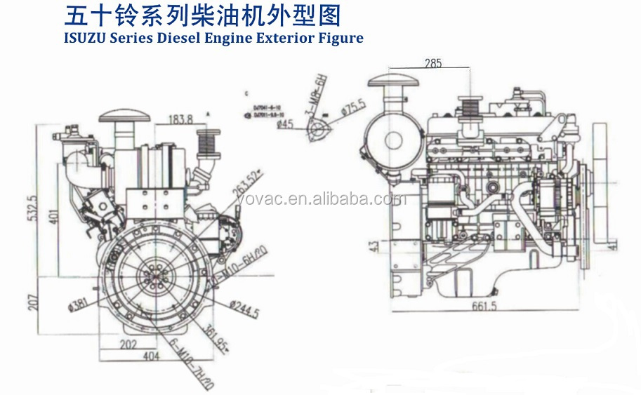 hot sale     diesel engine with pto for stationary power
