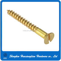 Stainless steel brass and aluminum wood screw made in china