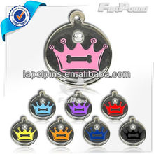 Crystal Crown Pet ID Tag
