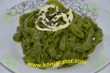 Spinach konjac fettuccine 100% natural & health food