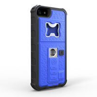 shock-proof case, cigarette lighter phone case with beer opener for iphone5s plastic+tpu+battery+metal