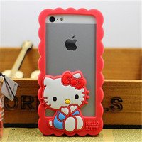 Mickey Minnie Gril Hello Kitty Silicone Bumper Case for iphone 5 5S