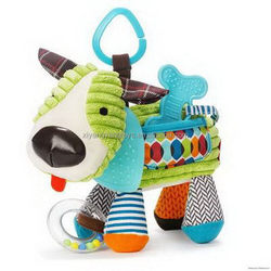Economic Crazy Selling plush soft baby rattle hand bell