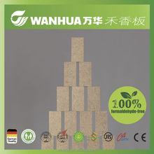 "18mm(0.709"") ASTME-84 eco friendly glue straw based melamine oak covered formaldehyde free MDF panels"