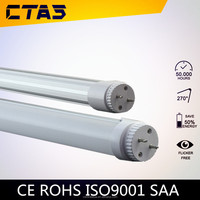 High quality t8 led tube rotator end cap SMD2835 led tube 18W 1800LM 1200mm widely used in office CE&RoHS