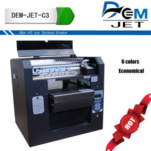 Home made DIY digital flatbed 6 color card logo printing machine