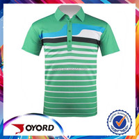 custom dye sublimated golf polo shirt green stripe golf shirts