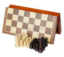 Outdoor Chess Game Set with Handmade Folding Wooden Chess Board