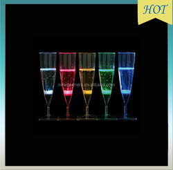 stock glow multiColor LED Champagne Glass