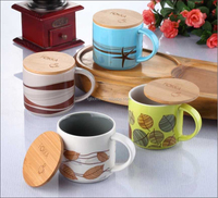 custom color ceramic coffee mug with lid and handle wholesale