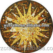 Circle plate oil painting suns models