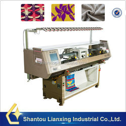 Computerized flat knitting machine for intarsia knitting