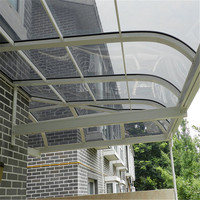 transparent solid polycarbonate sheet awning materials
