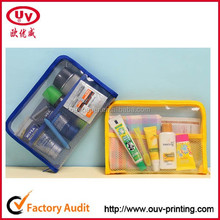 promotional clear pvc mini cosmetic bags with zipper