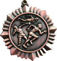 2014 new fashion hanging brass embossed sports medal