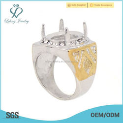 Simple stainless steel Silver&Gold ring designs mens indonesia rings, fancy rings