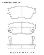 Brake Pad Factory GDB750 brake pad For Car HONDA CIVIC