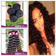 Allied express high quality 7A virgin russian hair extension, 100% unprocessed virgin hair bundles