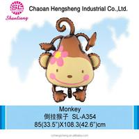 2015 Non latex monkey foil cartoon character helium balloons