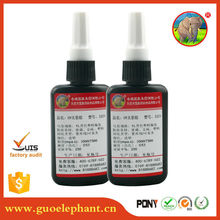 Amber One Component UV Cure Acrylic Adhesive/Glue for Glass to Glass/Metals or Crystal to Metal