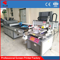 paper flat spot uv semi-automatic silk screen printing machine for sale