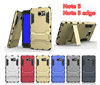 Luxury Metal Kickstand shockproof armor hybrid PC TPU back cover for samsung note 5 case