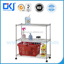 HKJ-C016 xiangye new type 3-tier metal chrome plated wire shelving racks&Multi-function type