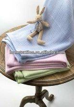 leno weave design 100% cotton cellular thermal blanket for baby