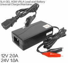 12V SLA GEL AGM VRLA lead acid battery 12V 2A universal battery charger