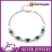 Hot product natural cz stone 925 silver teen girl friendship new models bracelets