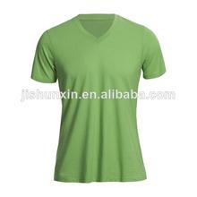 venta al por mayor verde 2014 v- cuello las mujeres t- shirt, china fabricante de ropa